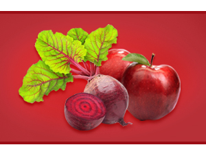 Apple and beetroot concentrate