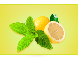 Lemon and mint concentrate