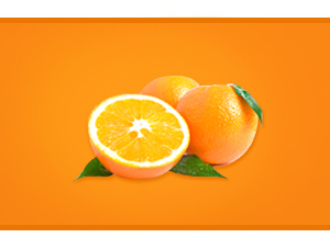 orange comminuted
