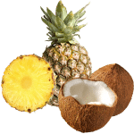 pineapple and coconut concentrate
